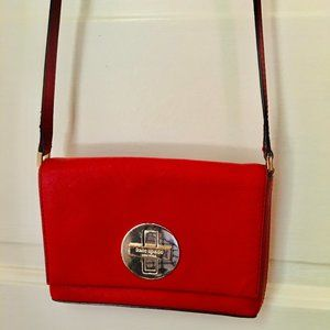 Kate Spade Red Twist-lock Crossbody Bag